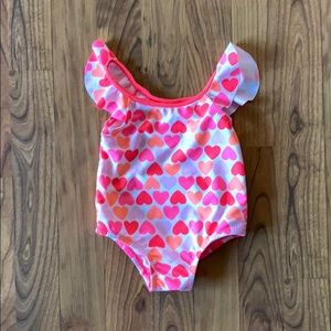 Heart one piece swimming suit
